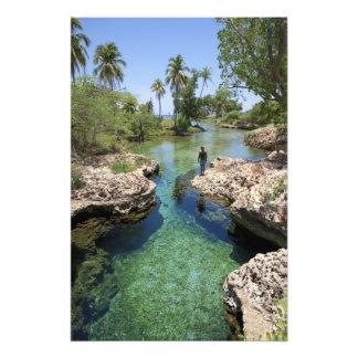 Furo do jacaré, cidade preta do rio, Jamaica Impressão De Foto