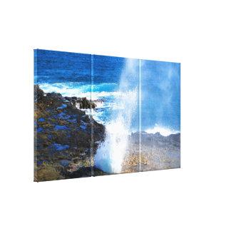 Furo do sopro de PixDezines, Kauai Impressão De Canvas Esticada
