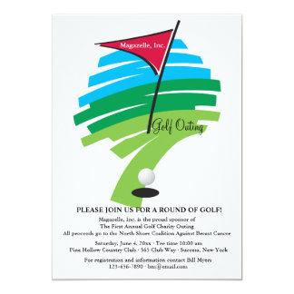 Furo em um convite do golfe