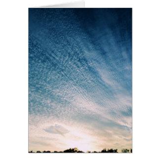 Furo nas nuvens - cartão da escritura