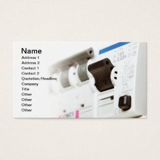 Fusíveis elétricos cartão de visitas