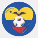 Fútbol de ECUADOR. Ecuadorian National Team Soccer Adesivo