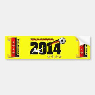 Futebol 2014 do campeão do mundo da bandeira de adesivo para carro