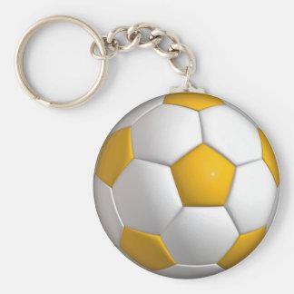 """Futebol 2,25"""" chaveiro básico do botão"""