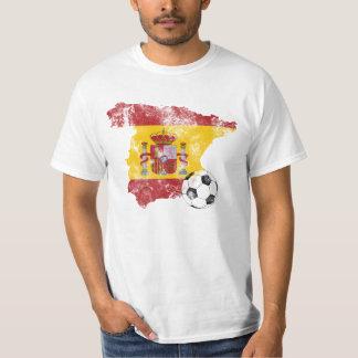 Futebol afligido da espanha camiseta