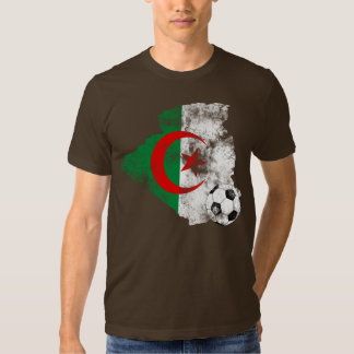 Futebol afligido de Argélia T-shirt