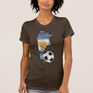 Futebol afligido de Argentina Tshirts