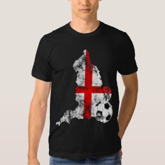 Futebol afligido de Inglaterra Tshirt