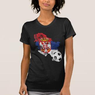 Futebol afligido de Serbia T-shirt