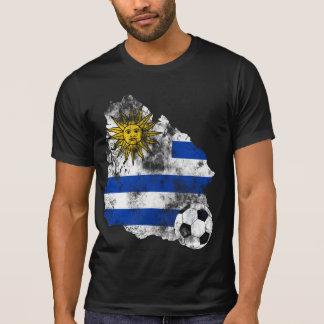 Futebol afligido de Uruguai T-shirt