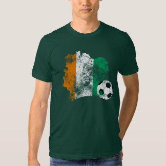 Futebol afligido do d'Ivoire de Côte Tshirt