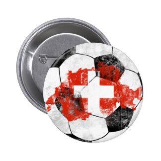 Futebol afligido suiça pins