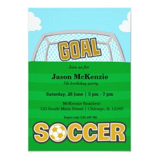 Futebol (amarelo) convite 12.7 x 17.78cm