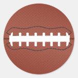 futebol americano adesivo redondo