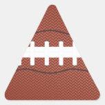 futebol americano adesivos em forma de triângulo