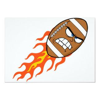 Futebol americano em convites do fogo
