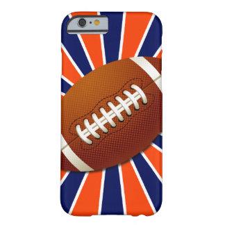 Futebol azul e branco alaranjado retro capa barely there para iPhone 6