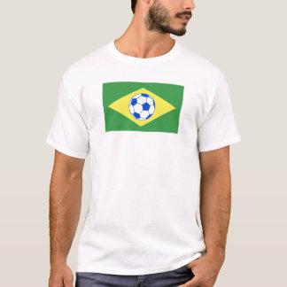 futebol bandeira-Brasil Camiseta