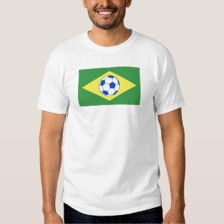 futebol bandeira-Brasil T-shirt