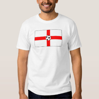 futebol bandeira-Inglaterra T-shirt