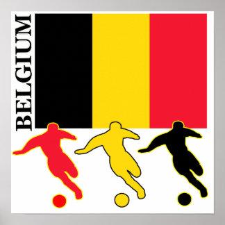 Futebol Bélgica Pôster