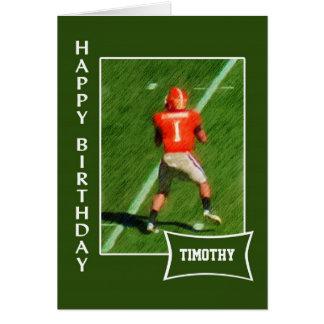 Futebol - cartão de aniversário conhecido feito