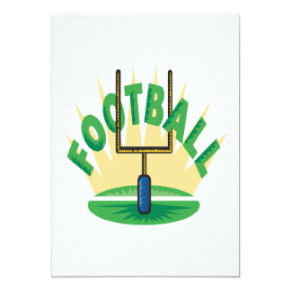 Futebol Convite 12.7 X 17.78cm