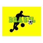 Futebol - curvatura gosta de um brasileiro cartão postal
