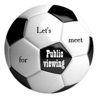 Futebol da bola de futebol - convite público da