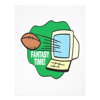 Futebol da fantasia flyer 21.59 x 27.94cm