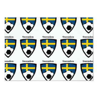 Futebol da suecia convite 12.7 x 17.78cm