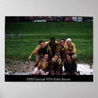 Futebol de 1999 meninas de CVPA Pôster