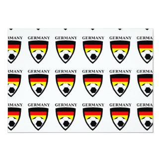 Futebol de Alemanha Convite 12.7 X 17.78cm