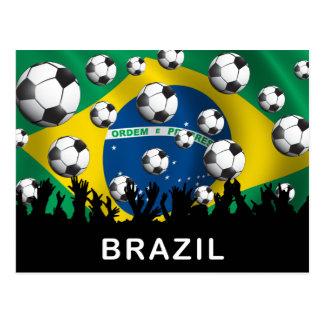Futebol de Brasil Cartoes Postais