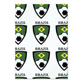 Futebol de Brasil Convite 8.89 X 12.7cm