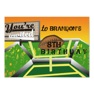 Futebol do aniversário convite 12.7 x 17.78cm