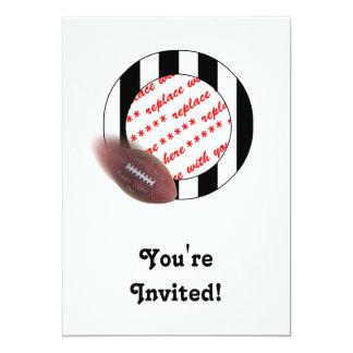 Futebol do dia dos pais - quadro da foto do convite 12.7 x 17.78cm