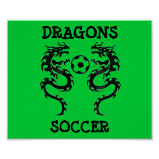 futebol do dragão, DRAGÕES, FUTEBOL - personalizad Pôster