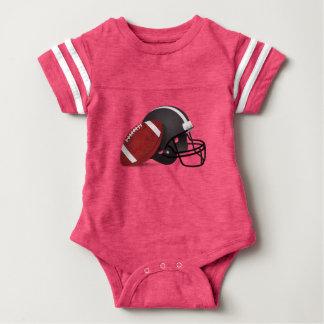 Futebol e capacete body para bebê