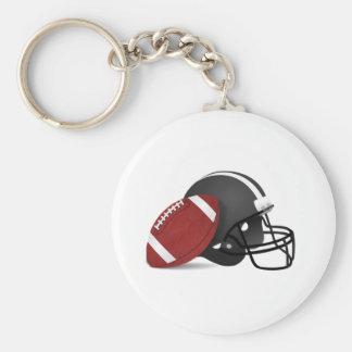 Futebol e capacete chaveiro