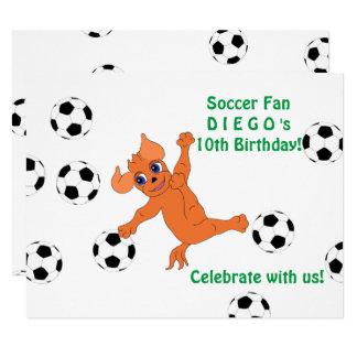 Futebol feliz pelos Feliz Juul Empresa Convite 10.79 X 13.97cm