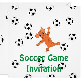 Futebol feliz pelos Feliz Juul Empresa Convite Quadrado 13.35 X 13.35cm