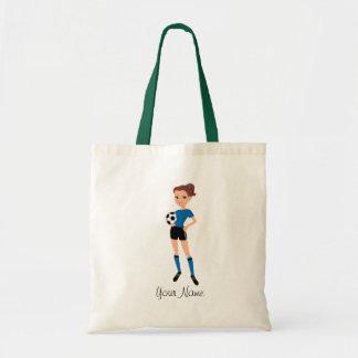 Futebol fêmea as bolsas ilustradas