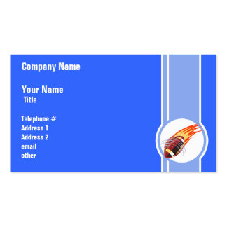 Futebol flamejante; Azul Cartao De Visita