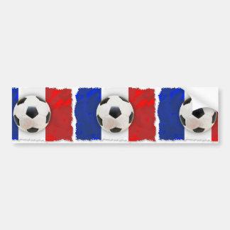 Futebol francês adesivo para carro