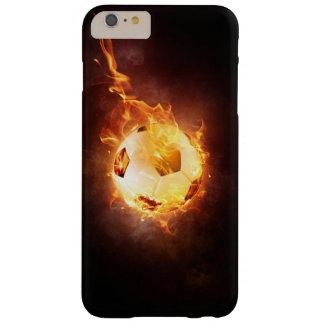Futebol, futebol, bola sob o fogo capa barely there para iPhone 6 plus