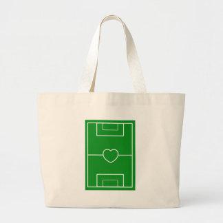 futebol, futebol do amor do coração Pitch.l Sacola Tote Jumbo