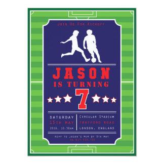 Futebol - futebol - meninos - aniversário - convite 13.97 x 19.05cm