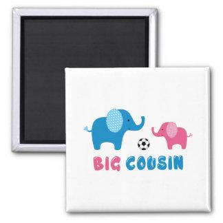 Futebol grande do elefante do primo ímã quadrado