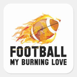 Futebol meu amor ardente adesivo quadrado
